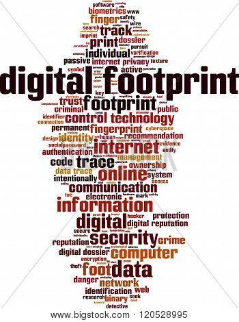 Digital Footprint Word Cloud