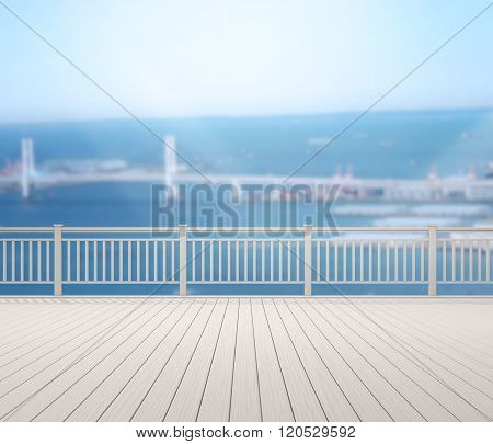 Balcony And Terrace Of Blur Exterior Background
