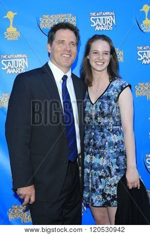 BURBANK - JUN 25: Ben Browder, Imogen Browder at the 41st Annual Saturn Awards at The Castaway on June 25, 2015 in Burbank, California,