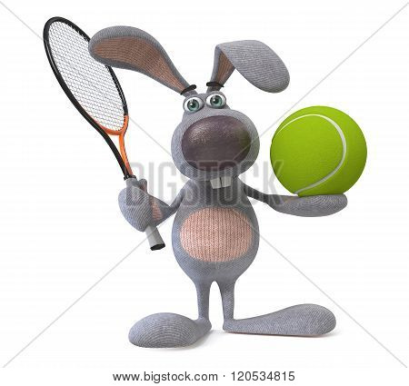 Hare Tennis Player
