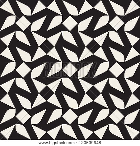 Vector Seamless Black And White Geometric Pattern