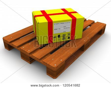 The parcel on the pallet