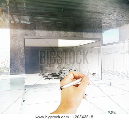 Hand Drawing Blueprint