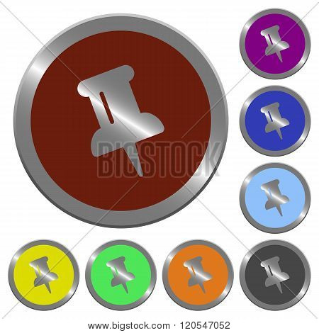 Color Pin Buttons