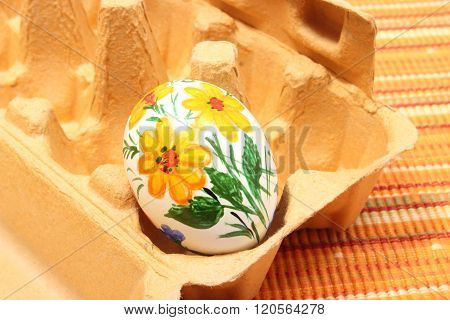 Colorful Easter Egg In Carton Package