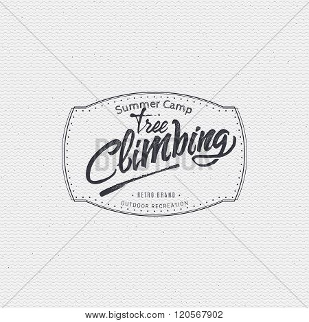 Tree climbing sign handmade differences, made using calligraphy and lettering It can be used as insi
