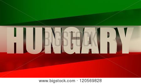 Hungary flags design concept