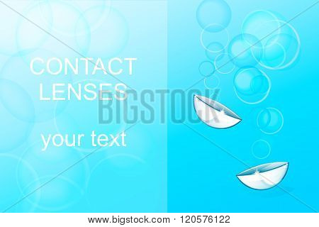 illustration of the contact lens and your text