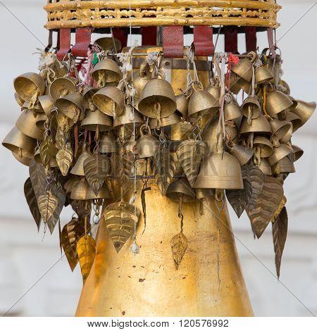 Bells In Shwedagon Pagoda . Yangon, Myanmar.