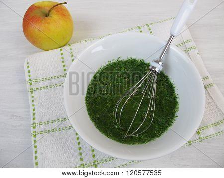 Vinaigrette dressing with apple vinegar