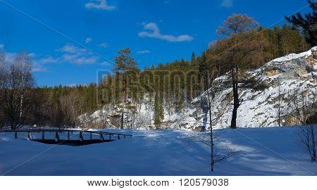 Nature Park Deer Streams. Russia, Ural.