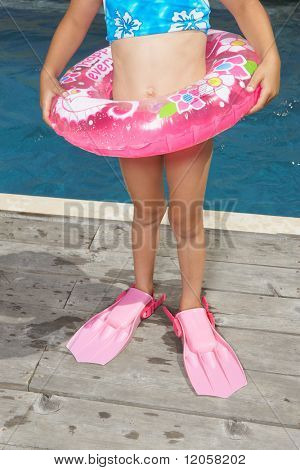 Young girl in scuba gear