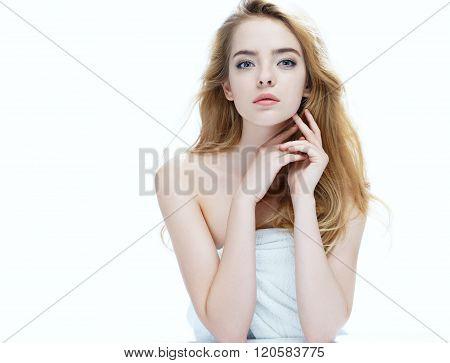 Beautiful girl with beautiful makeup.