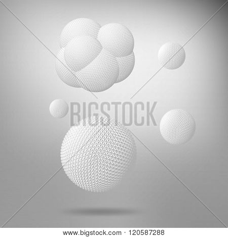 Abstract 3D background with geometric design elements. Creative concept vector background of cells H