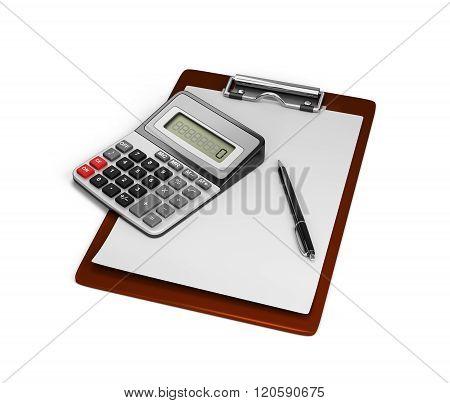 Calculator Notebook And Pen