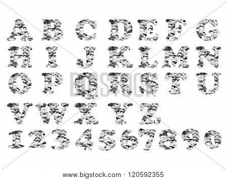 Alphabet Military Grey