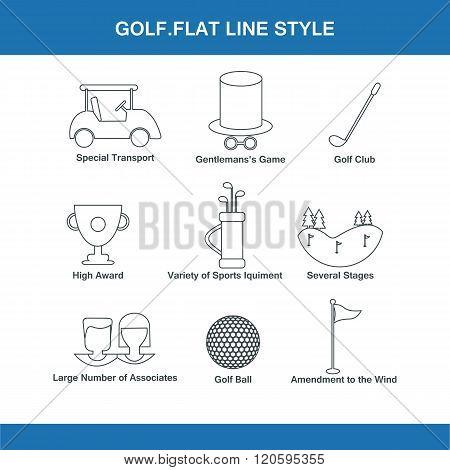 Golf Flat Line Style