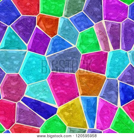 Significant Full Color Marble Irregular Plastic Stony Mosaic Seamless Pattern Texture Background