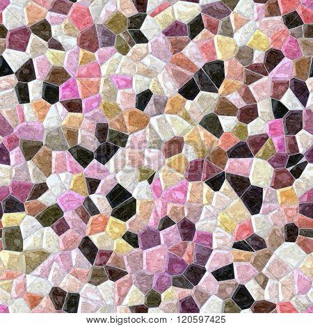 Pastel Pastel Full Color Marble Irregular Plastic Stony Mosaic Seamless Pattern Texture Background
