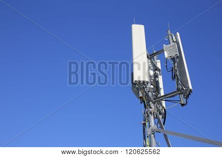 panel antenna mobile communication on background blue sky