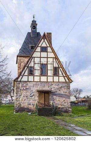 Half Timbered Church In Rottleben, Thuringia