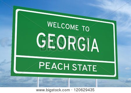 Welcome To Georgia State Road Sign