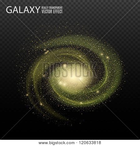 Galaxy. Really transparent vector galaxy effect. Spiral galaxy. Galaxy template. Galaxy background. Element galaxy.