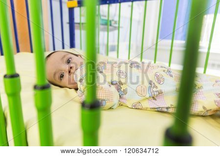 Child In Clinic Bed