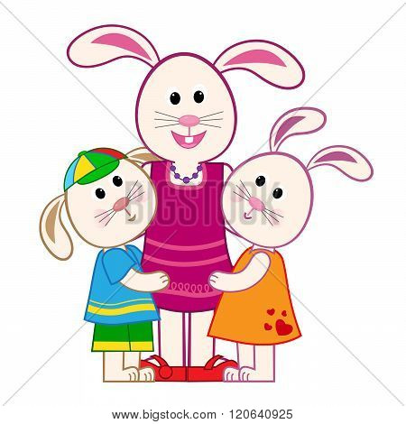 Mother Bunny and Kids