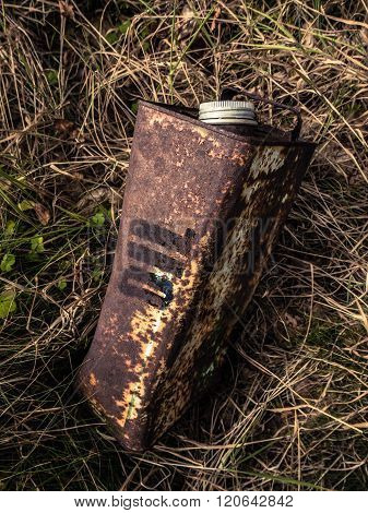 Old Rusty Oil Can