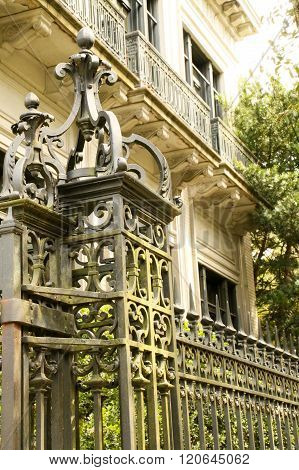 The Intricate Iron Gate and Fence