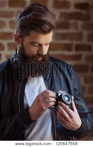 Stylish Young Bearded Man