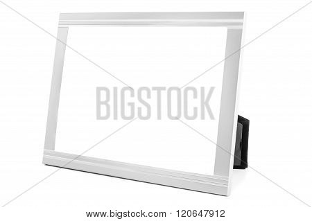 Aluminum Decorative Photo Frame On White Background