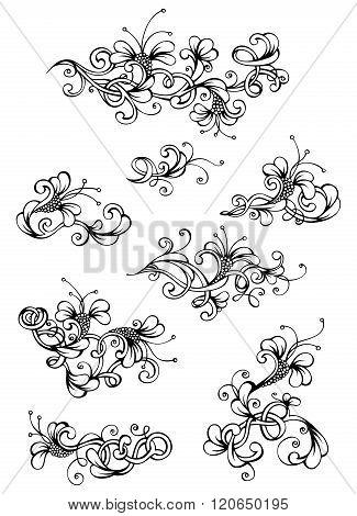 Floral Vintage Design Elements.