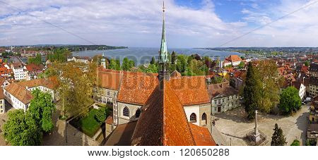 Panoramic View Of Konstanz City (germany) And Town Of Kreuzlingen(switzerland)