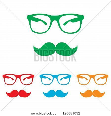 Mustache and Glasses sign