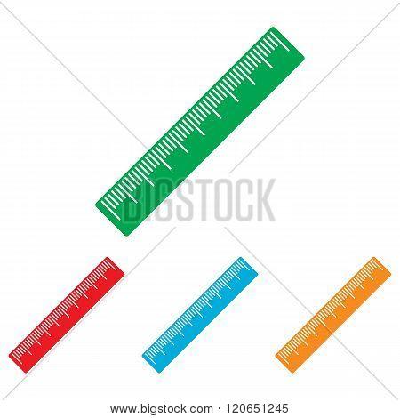 Centimeter ruler sign