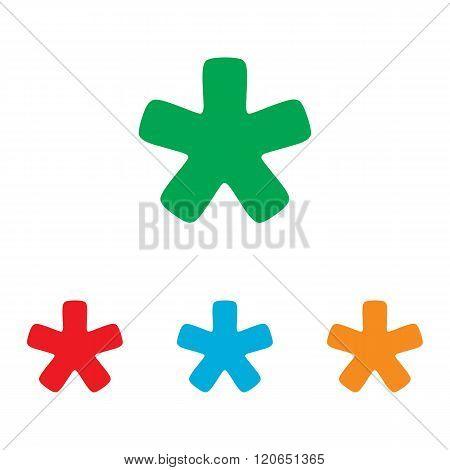 Asterisk star sign