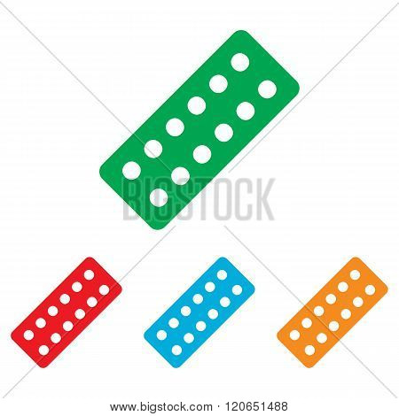 Pills sign. Colorfull set