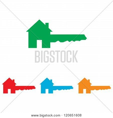 Home Key sign. Colorfull set
