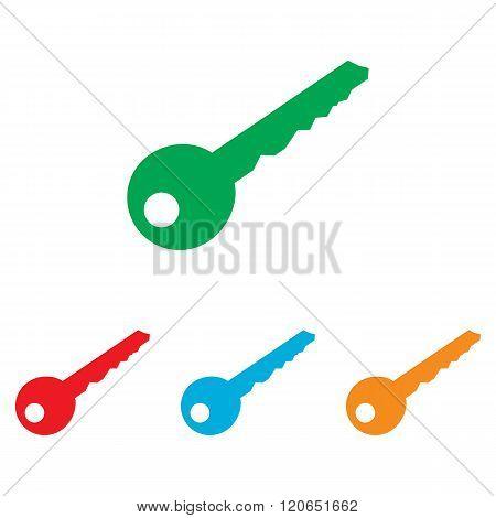 Key sign. Colorfull set