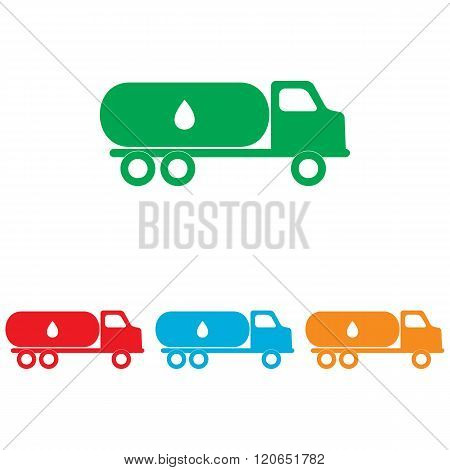 Car transports Oil sign