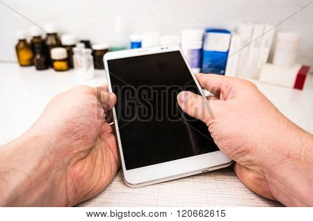 Tablet pc with medical objects