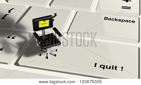 Keyboard With Little Chair.