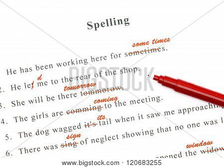 Spelling Check On English Sentences
