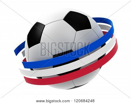 Football France 2016 With Stripes