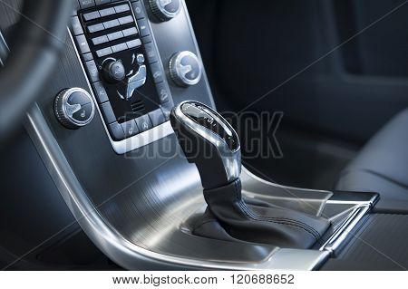 Gearshift In A Modern Car