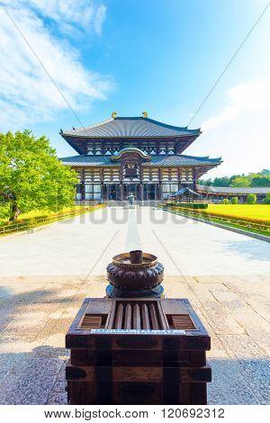 Daibutsuden Great Buddha Hall Front Walkway V