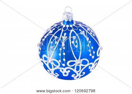 Bright blue Christmas ball