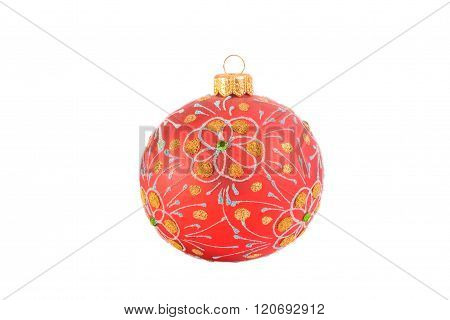 Bright red Christmas ball